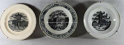 Soubor 22- ti keramických talířů s pražskými motivy