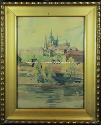 Soubor 4 prací - Pražské motivy