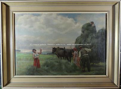 Gustav Sýkora - Sušení sena