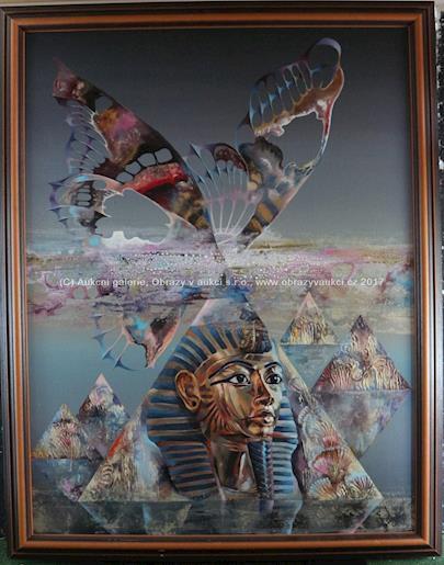 signováno vzadu Martynov - Smrt Faraóna