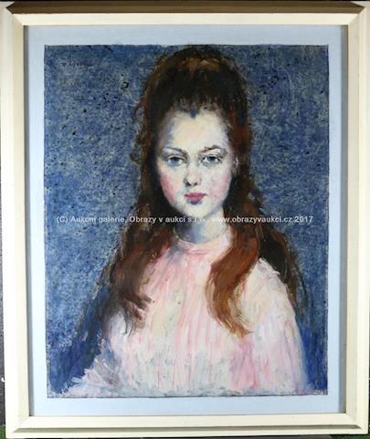Richard Wiesner - Portrét mladé ženy