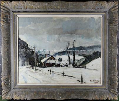 Bohumír Dvorský - Zima u chalupy